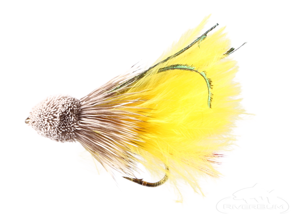 Muddler Minnow, Marabou, Yellow