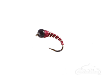 buy Zebra Midge, Tungsten Bead, Maroon, Black Bead