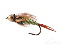 Prince Nymph, Hot Wire Green-Yellow, Tungsten Bead Head