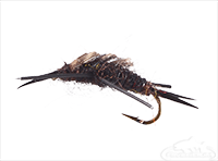 buy Stonefly Nymph, Rubber Legs, Black