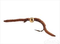 San Juan Worm, Bead Head, Brown