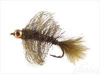 Leech, Mini, Bead Head, Black-Olive