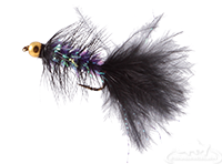 buy Krystal Flash Bugger, Bead Head, Black/Purple Body