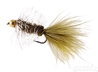 buy Wooly Bugger, Bead Head, Olive-Grizzly