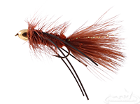 Wooly Bugger, Cone Head, Rubber Legs, Brown