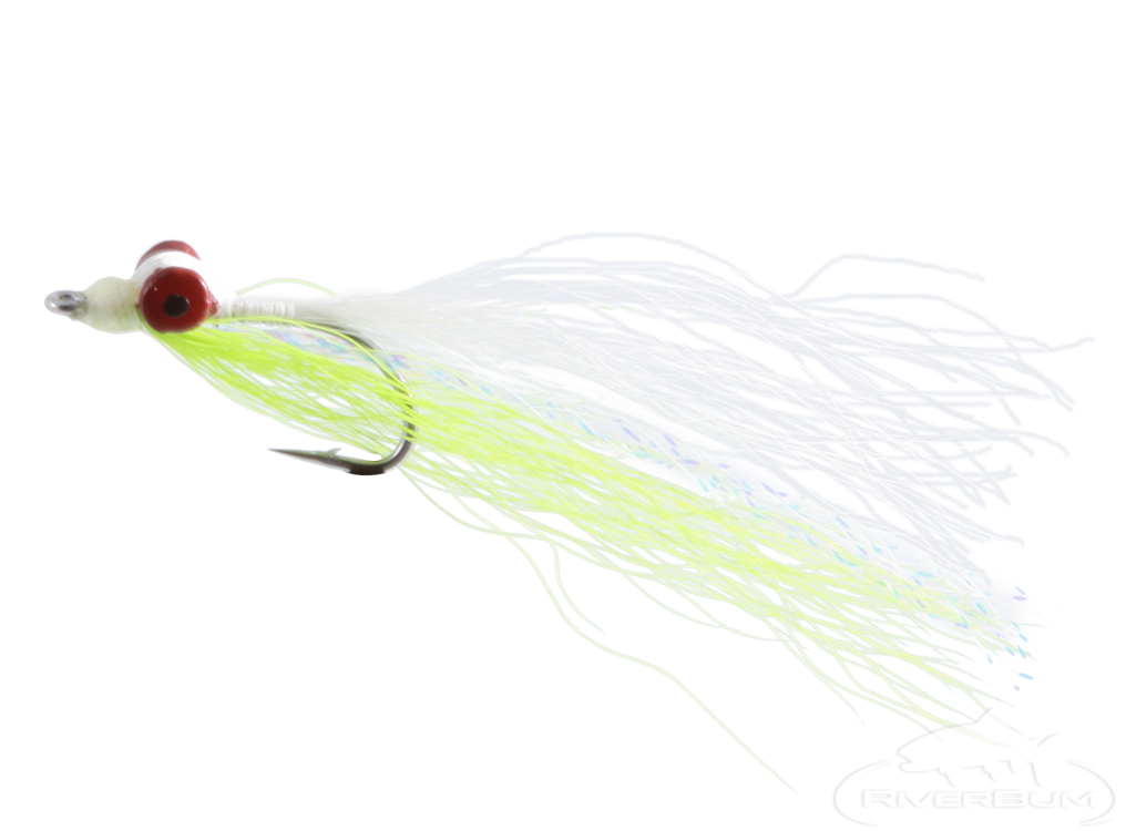 Clouser Deep Minnow, Chartreuse-White