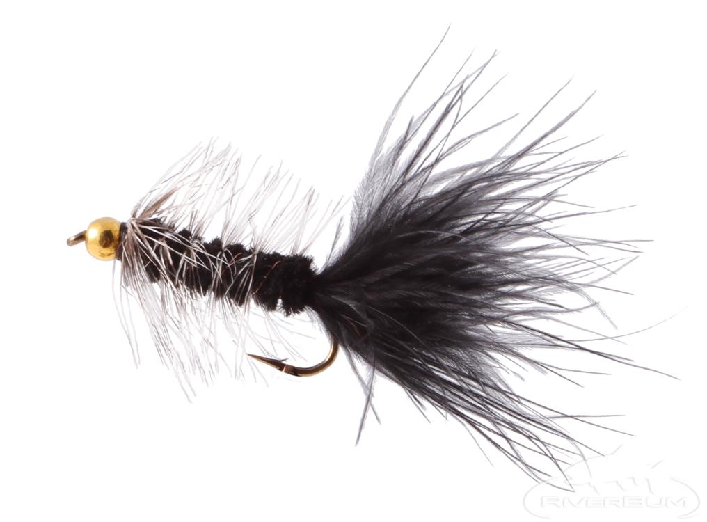 Fliegentom Streamer 3 pieces Wooley Bugger Sculpin//Bullhead amber krystal
