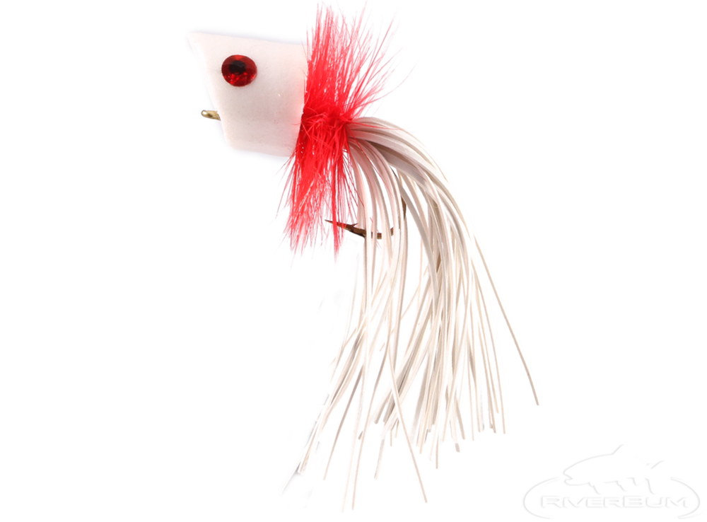 Fly fishing with kids: panfish popper foam white