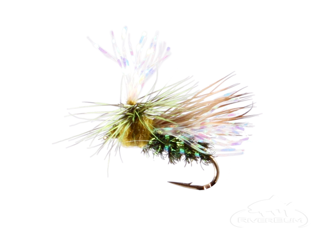 Crystal Flash Caddis, Olive