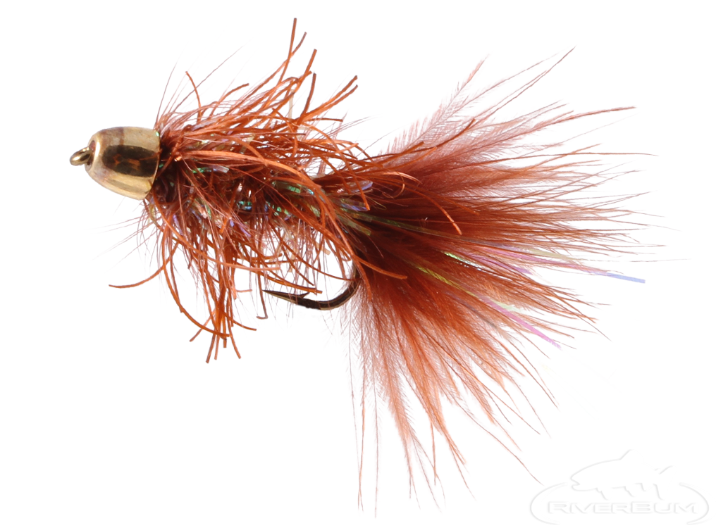 Rubber Bugger, Cone Head, Brown
