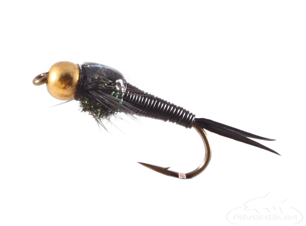 Copper John Nymph, Bead Head, Black